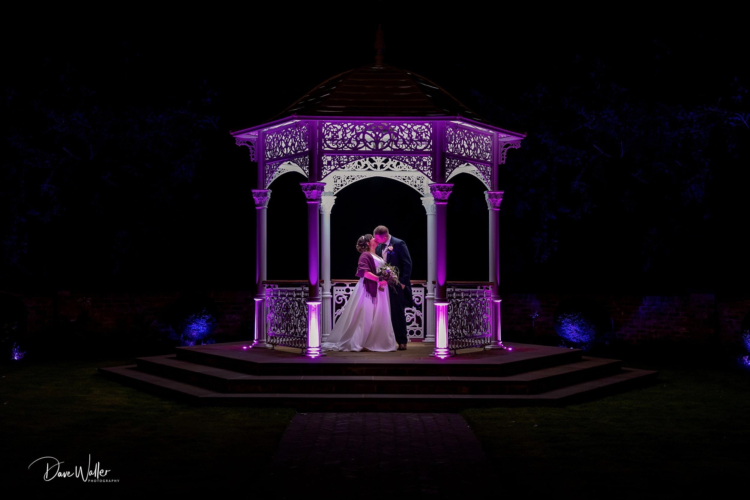 Twilight image at Aldwark Manor