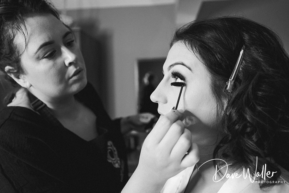 make up being applied to a bries maid before a wedding