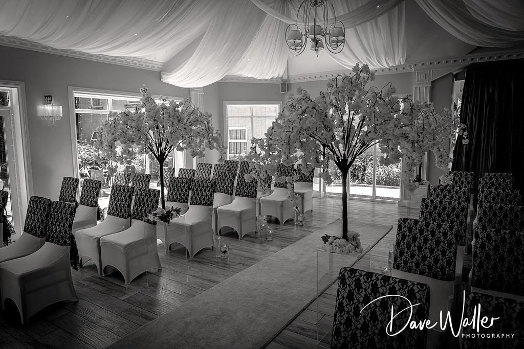 Astley Bank hotel wedding reception room