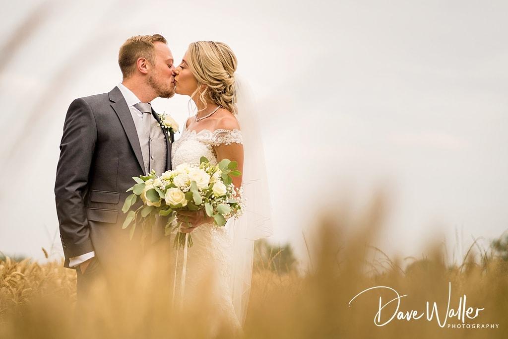 bride and groom at the normans wedding venue